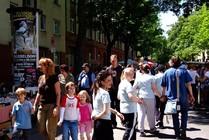 Ein Blick auf die Menschenmengen