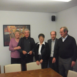 v.l. Gisela Bach, Wolfgang Schulten, Luise Hoffmann, Daniel Rübenkönig, Eberhard Kentrup